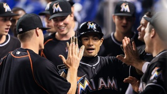 Ichiro and Fernandez Lead Marlins to Win