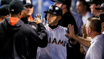 Ichiro Collects Four Hits as Marlins Take Citrus Series Opener