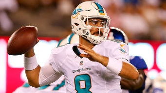Dolphins Open Preseason With Comeback Win Over Giants