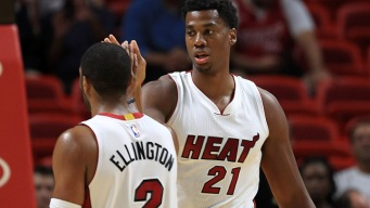Heat List Whiteside as Probable for Thursday With Hand Cut
