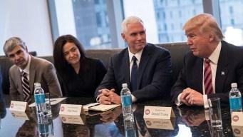 Trump Tells Anxious Tech Leaders: 'We're Here to Help'