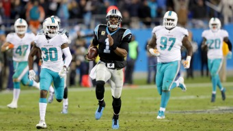 Newton, Panthers Hammer Dolphins 45-21