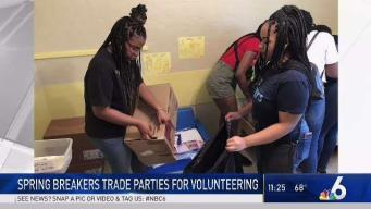 Howard U Students Volunteer During Spring Break in Miami