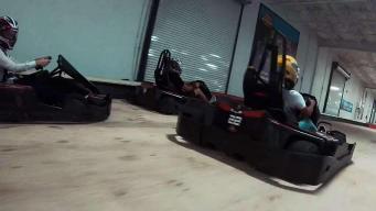 Jen and Johanna Take on K1 Indoor Kart Racing