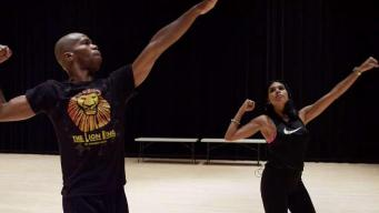 Johanna Learns Dance Moves of 'The Lion King'