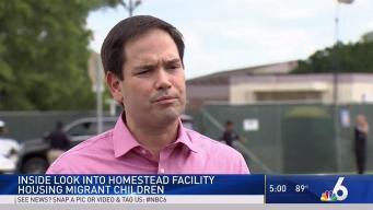 Journalists, Rubio Tour Center for Migrant Children