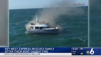 Key West Express Rescues Family From Boat Fire