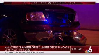 Man Leads Chase After Ramming Police Cruiser