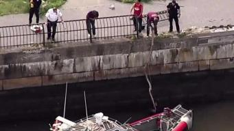 Man Tells Rescuers Giant Fish Pulled Him Into NYC River
