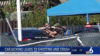 Miami Beach Car Theft Leads to Fatal Shooting and Crash
