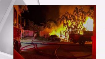 No One Hurt as Fire Destroys Trailer in Florida Keys