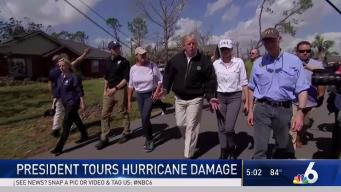 President Trump Tours Hurricane Damage in Florida
