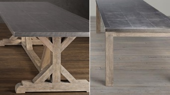 Recall: Restoration Hardware Metal Top Dining Tables