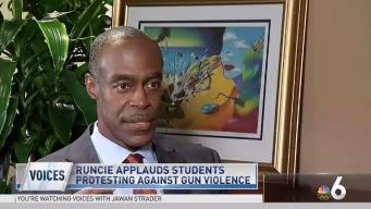 Runcie Applauds Students Protesting Gun Violence