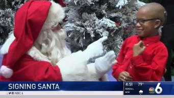 Signing Santa Meets Deaf Children Before Christmas
