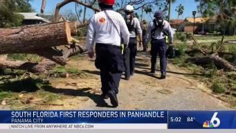 South Florida First Responders Help After Michael