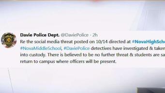 Suspect Arrested After Alleged Broward School Threats