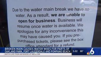 Thousands Affected by Water Main Break in Broward