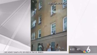 Toddlers Seen Hanging Out Window at Building in Chicago