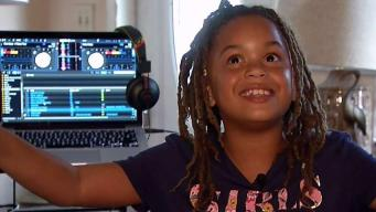 Turntable Talent 8-Year-Old DJ Spins at Dolphins Games