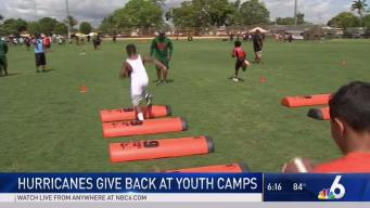 UM Football Players Host Youth Camp in Liberty City