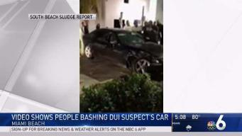 Video Shows Crowd Bashing DUI Suspect's Car on Miami Beach
