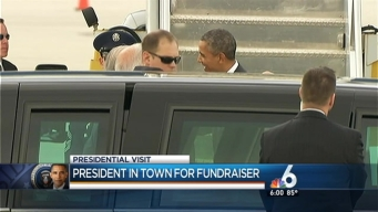 Obama Lands in Miami for Fundraiser at Alonzo Mourning's Home