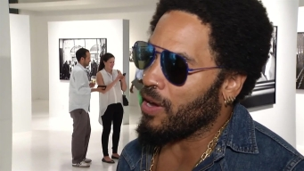 NBC 6 Interviews Lenny Kravitz at Art Basel