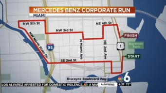 Mercedes Benz Corporate Run Traffic Info