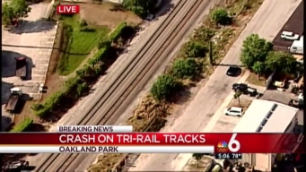 Crash on Tri-Rail Tracks in Oakland Park