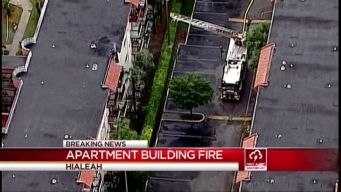 Lightning Strike Causes Fire at Hialeah Apartment Building
