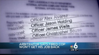 Fort Lauderdale Cop Fired Over Racists Texts Not Getting Job Back