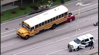 1 Killed in Crash Involving School Bus