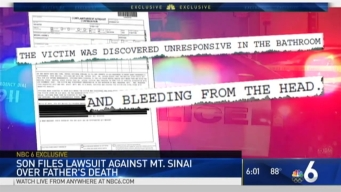 Lawsuit Filed in Death of Man at Mount Sinai Medical Center
