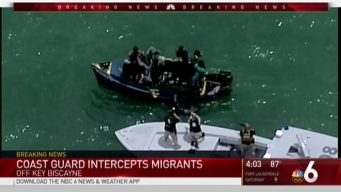 Group of Migrants Intercepted Near Key Biscayne