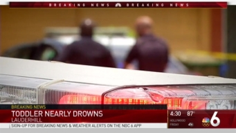 Toddler Hospitalized After Lauderhill Near Drowning