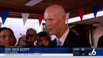 Governor Scott Discusses Zika Fight With South Florida Officials