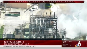 Possible Explosion Causes Large Fire at FPL Substation in Miami-Dade