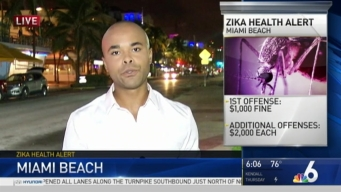 Miami Beach Dealing with Zika Concerns Amid Potential Flooding From Storm
