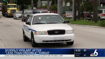 Extra Vigilance in South Florida Schools After 'Less Than Credible' Threat