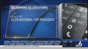 Coral Springs Cop Claims Dunkin' Donuts Workers Put Soap in Coffee