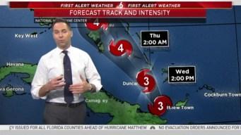Tracking Hurricane Matthew - 5AM October 5th