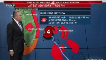 Hurricane Matthew 7PM Update