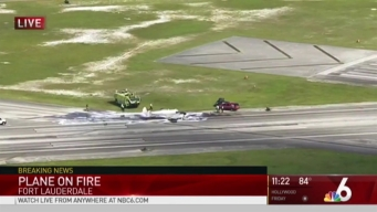 Small Plane Crashes at Fort Lauderdale Executive Airport