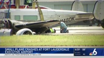 Small Plane Crashes on Runway at Fort Lauderdale Executive Airport