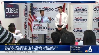 Paul Ryan Campaigns With Carlos Curbelo in South Florida