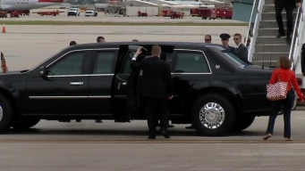 President Obama Lands at Miami International Airport