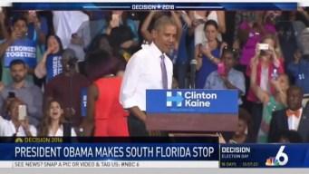 President Obama Stumps for Clinton in Miami