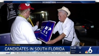 Donald Trump, Hillary Clinton Making Campaign Stops in South Florida