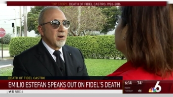 Emilio Estefan Talks About Castro's Death